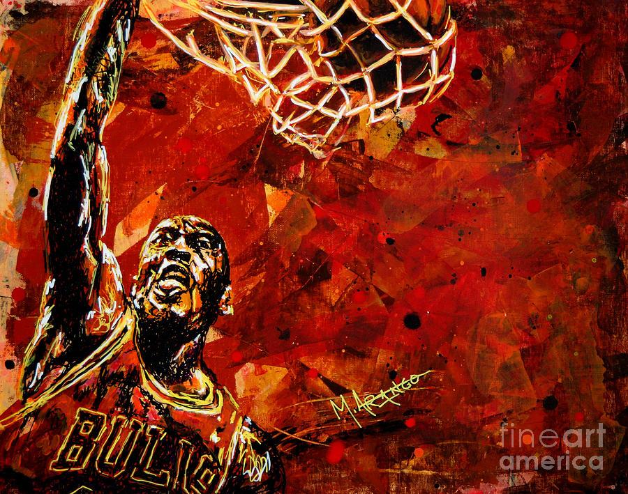 Michael Jordan Painting - Michael Jordan by Maria Arango