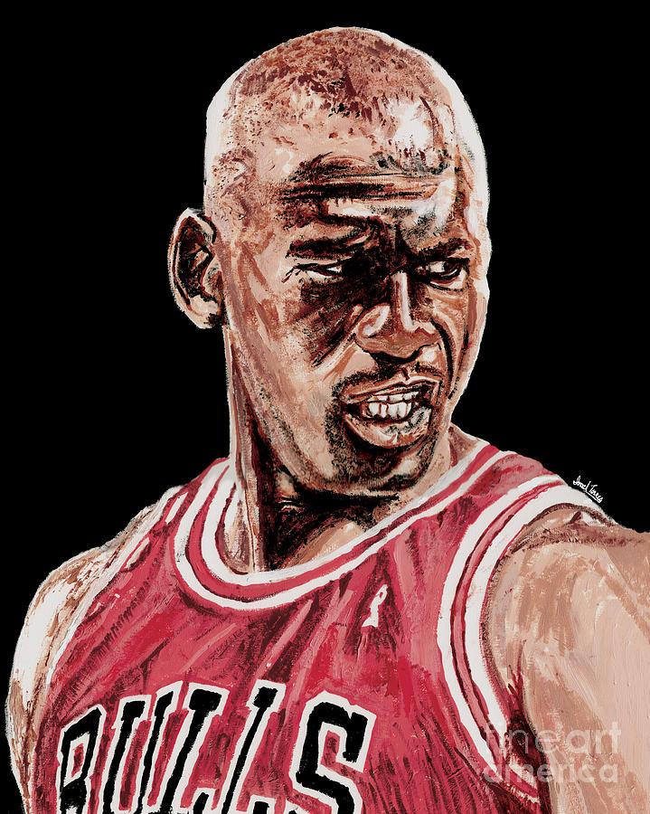 Michael Jordan Painting - Michael Jordan The Intimidator by Israel Torres