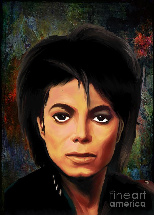 Michael Painting - Michael Joseph Jackson  by Andrzej Szczerski