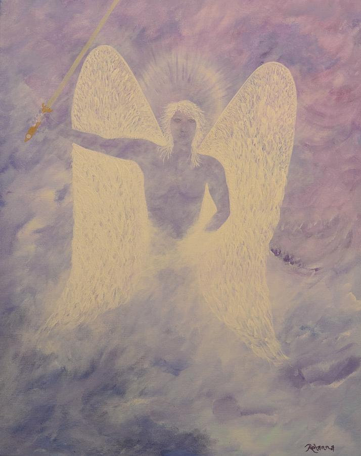 Archangel Painting - Michael by Judy M Watts-Rohanna