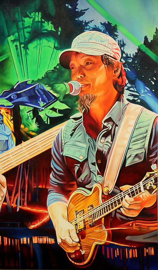 The String Cheese Incident Painting - Michael Kang At Hornings Hideout by Joshua Morton
