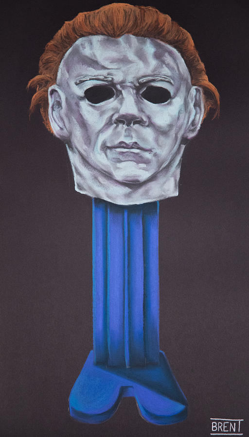 Michael Myers Pastel - Michael Myers  by Brent Andrew Doty
