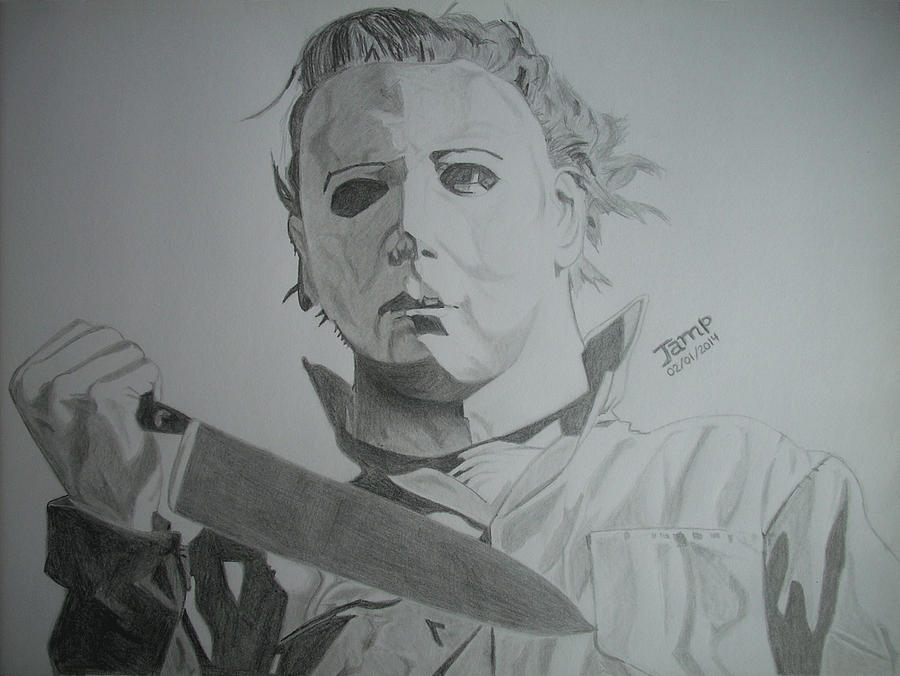 Halloween Painting - Michael Myers by Jose Mendez