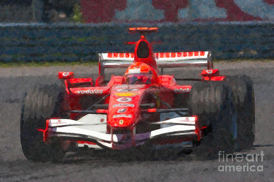 Canada Photograph - Michael Schumacher Canadian Grand Prix I by Clarence Holmes