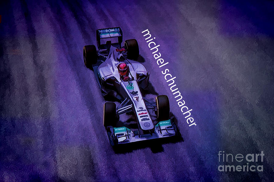 F1 Racer Digital Art - Michael Schumacher by Marvin Spates