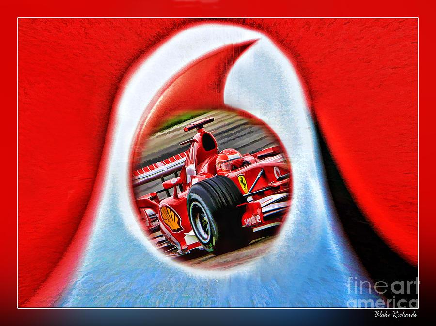 Formula One Photograph - Michael Schumacher Though The Logo by Blake Richards
