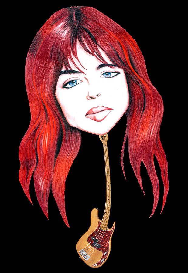 Illustration Drawing - Michael Steele Musician Illustration by Diego Abelenda