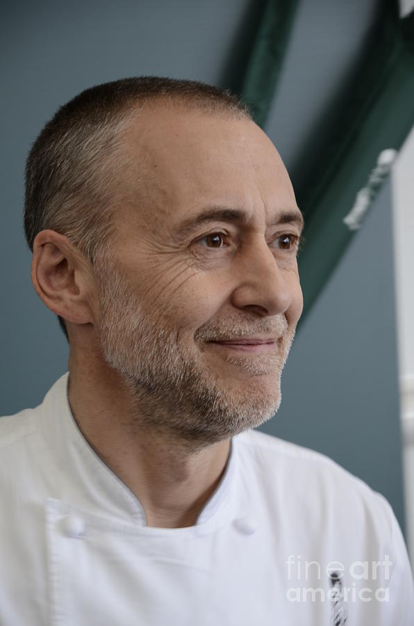 Chef Photograph - Michel Roux Jr. by CandyAppleRed Images