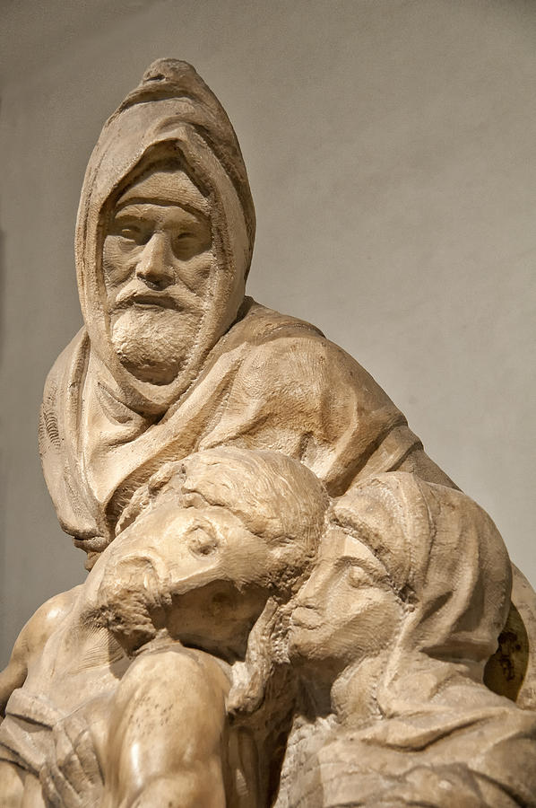 Baptistry Photograph - Michelangelos Final Pieta by Melany Sarafis