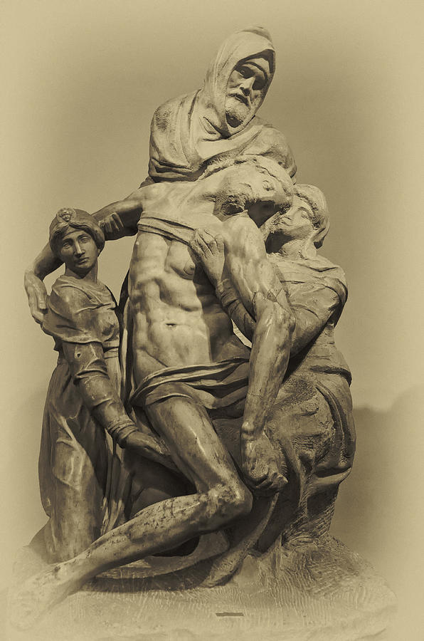 Architecture Art Photograph - Michelangelos Florence Pieta by Melany Sarafis