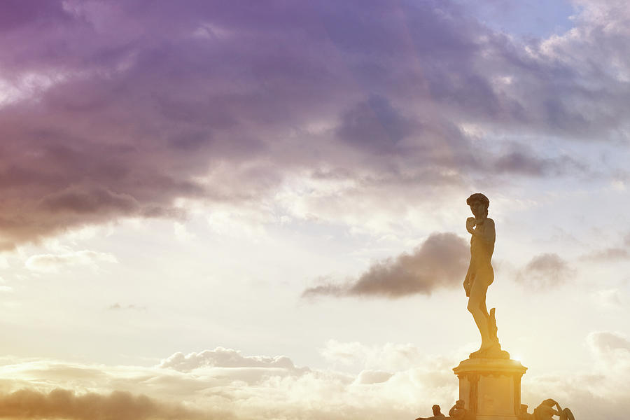 Michelangelos Statue At Dawn Photograph by Deimagine