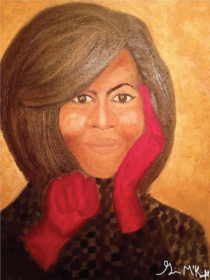 Michelle Obama Painting - Michelle Obama by Ginnie McKnight