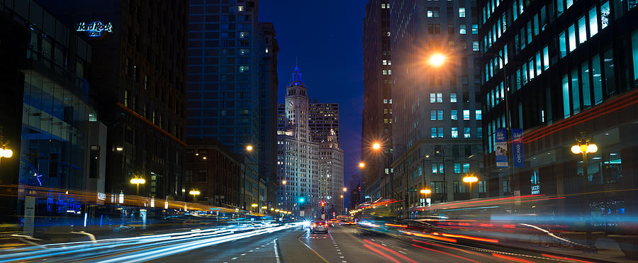 Michigan Photograph - Michigan Avenue Chicago by Steve Gadomski