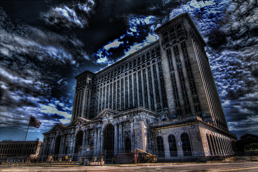Michigan Central Station Hdr Photograph