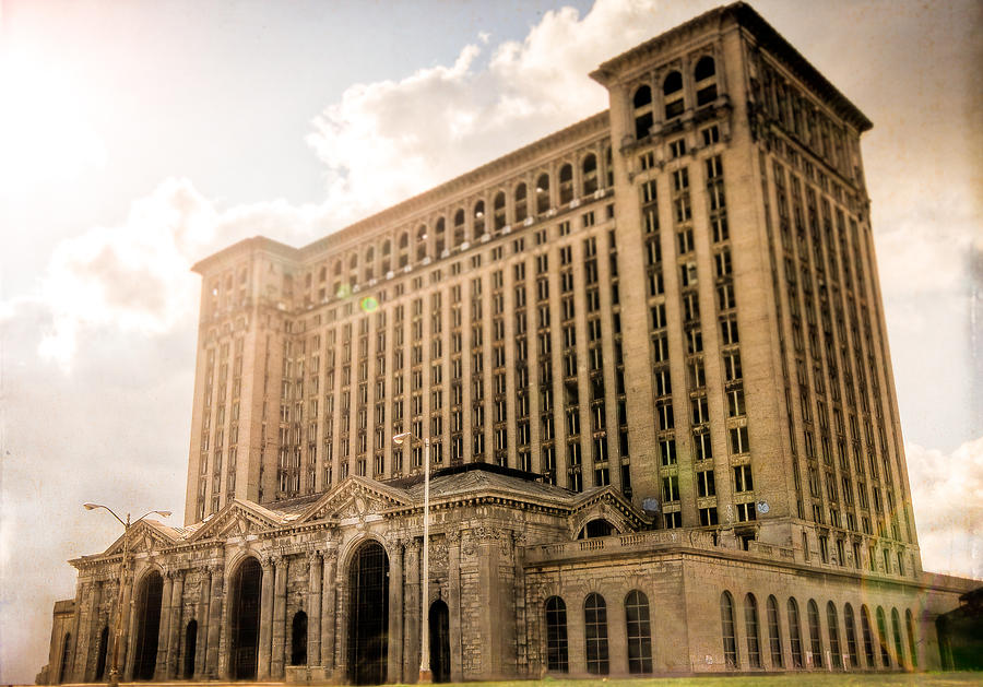 Michigan Central Station Photograph by Mike Lanzetta