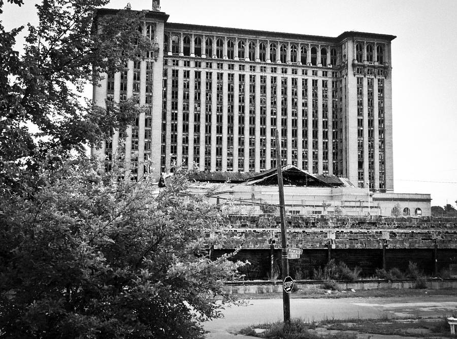 Michigan Central Station Photograph - Michigan Central Station by Priya Ghose