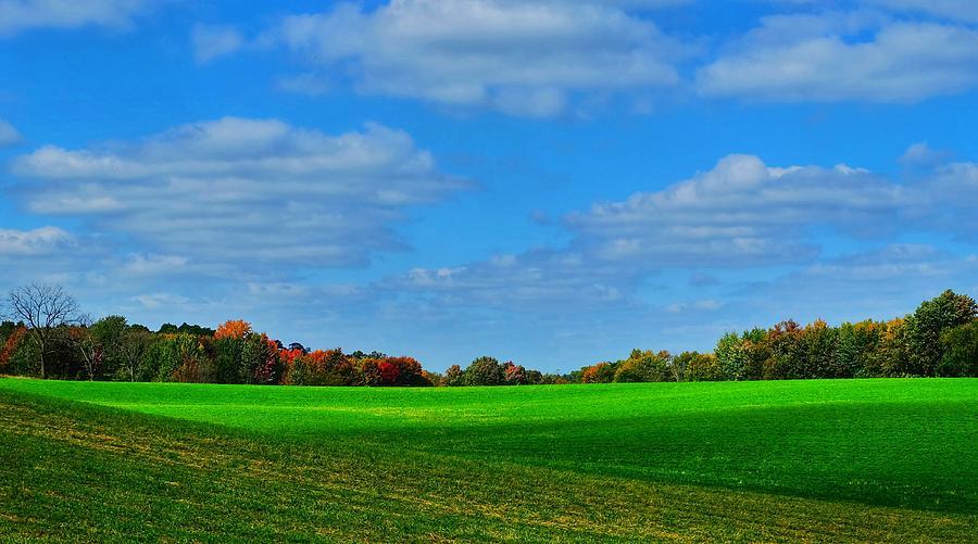 Michigan Fall Farmland Photograph by Thomas Nighswander