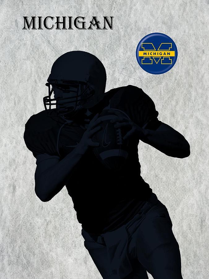 Football Digital Art - Michigan Football  by David Dehner