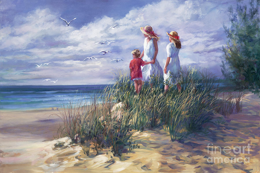 Sisters Painting - Michigan Shore Memories  by Laurie Snow Hein