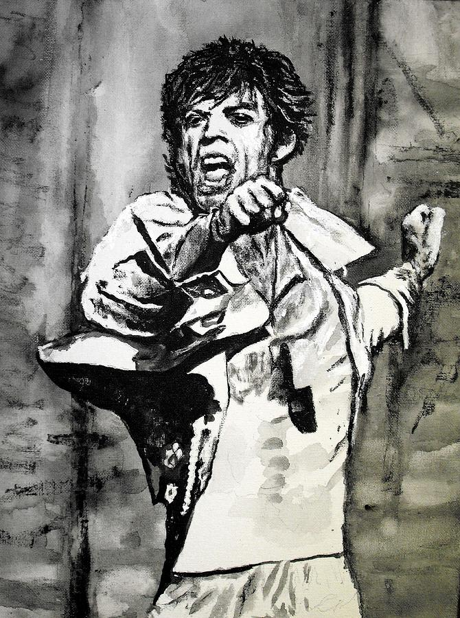 Mick Jagger Painting - Mick In Motion II by Todd Spaur
