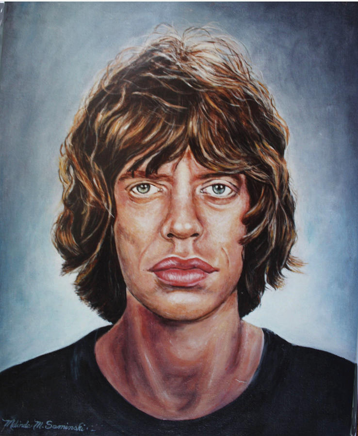 Mick Jaggar Rolling Stones Painting - Mick Jaggar by Melinda Saminski