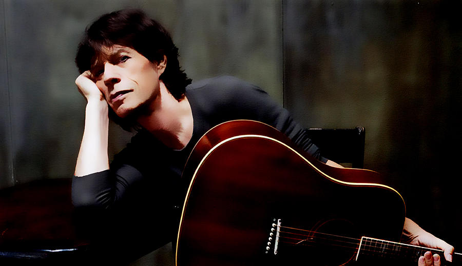Mick Jagger Digital Art - Mick Jagger And Guitar by Brian Reaves