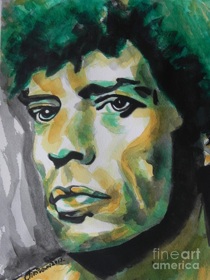Watercolor Painting Painting - Mick Jagger by Chrisann Ellis