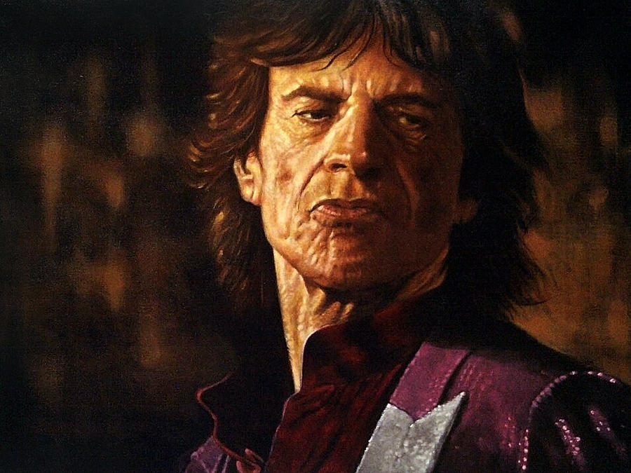 Celebrity Painting - Mick Jagger by Guy McIntosh