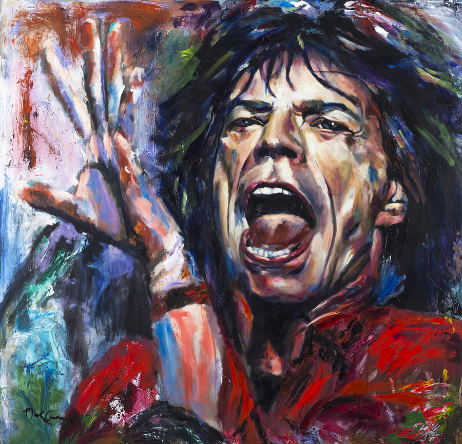 Mick Jagger Painting - Mick Jagger by Mark Courage
