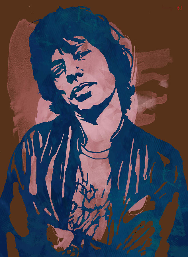 Mick Jagger - Pop Stylised Art Sketch Poster Drawing by Kim Wang
