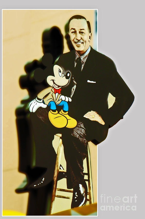 Walt Photograph - Mickey And Walt by Kevin Fortier