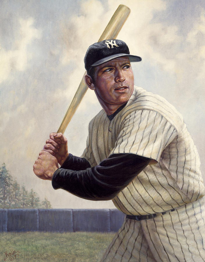 Gregory Perillo Painting - Mickey Mantle by Gregory Perillo
