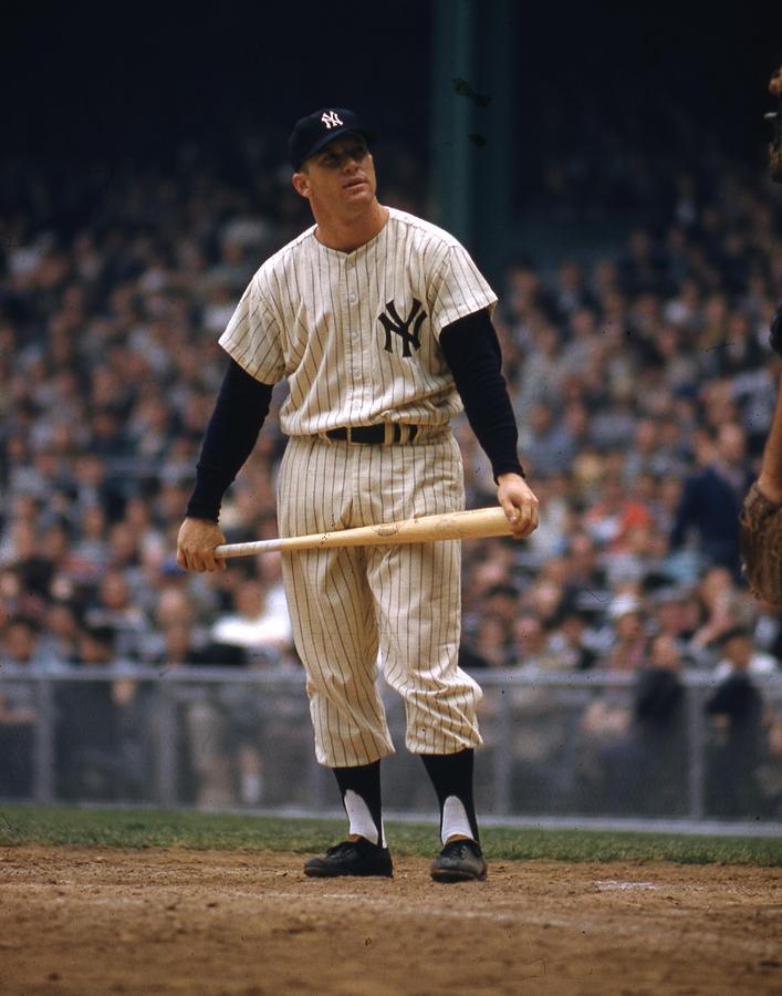 Mickey Mantle in Yankee Stadium by Retro Images Archive