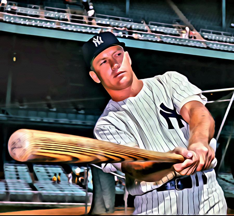 Mickey Mantle Oil Painting