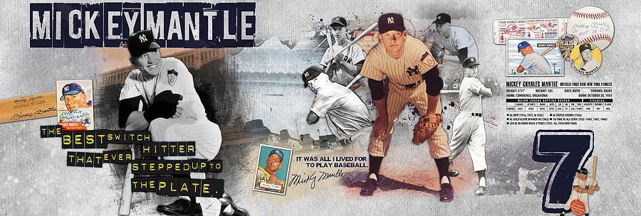 Mickey Mantle Photograph - Mickey Mantle Panoramic by Retro Images Archive