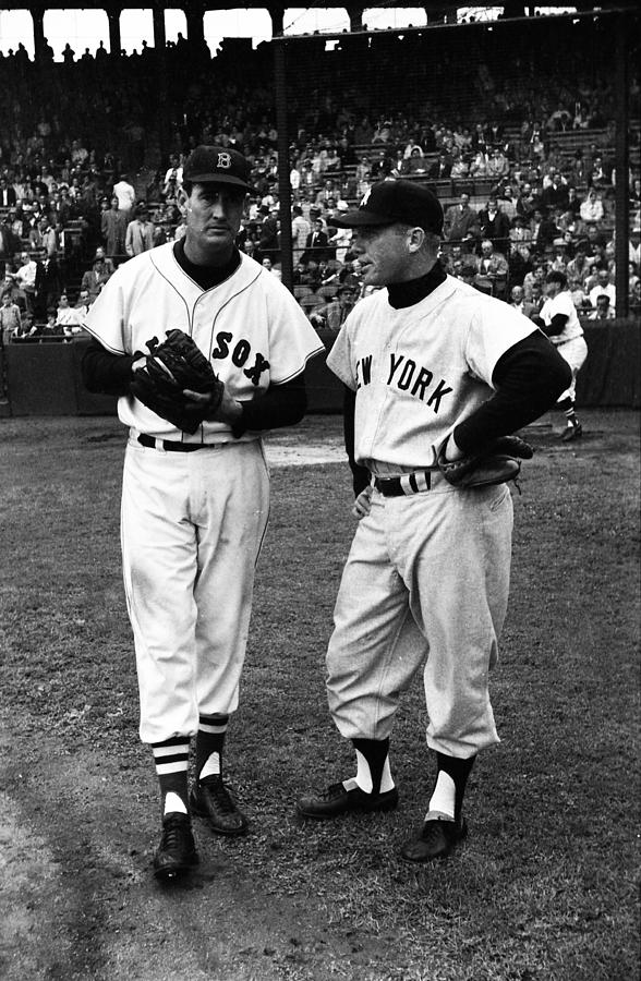 Marvin Newman Photograph - Mickey Mantle With Ted Williams by Retro Images Archive