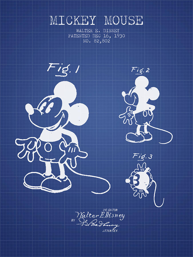 Mickey mouse patent from 1930 blueprint digital art by aged pixel mickey mouse digital art mickey mouse patent from 1930 blueprint by aged pixel malvernweather Choice Image