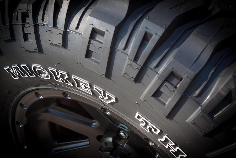 Tire Photograph - Mickey Thompson by Greg Thiemeyer