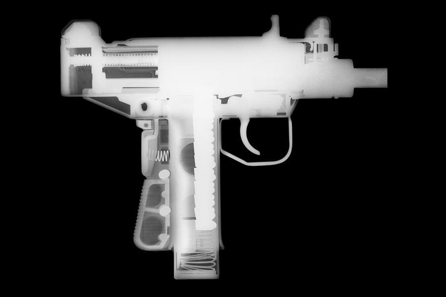 Antique Firearms Photograph - Micro Uzi Reverse by Ray Gunz