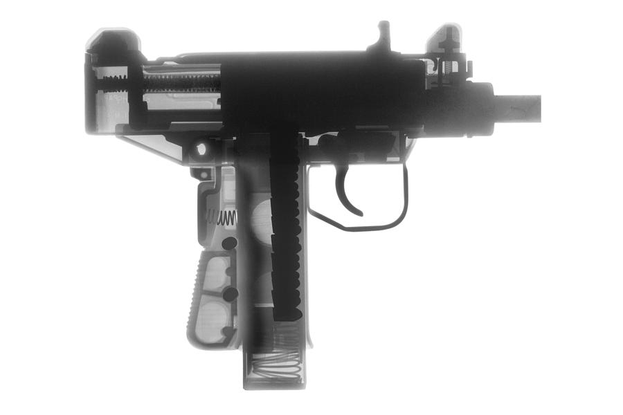 Gun Collectible Photograph - Micro Uzi X Ray Photograph by Ray Gunz