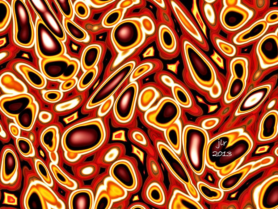 Fractal Digital Art - Microbiotica by Janet Russell