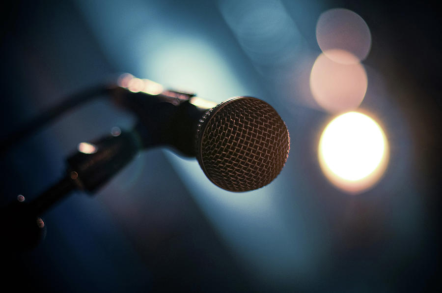 Microphone Abstract Close Up In Concert Photograph by Alexandre Moreau