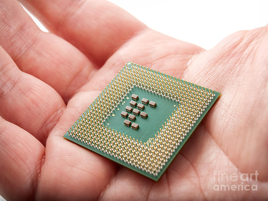 Digital Photograph - Microprocessor by Sinisa Botas