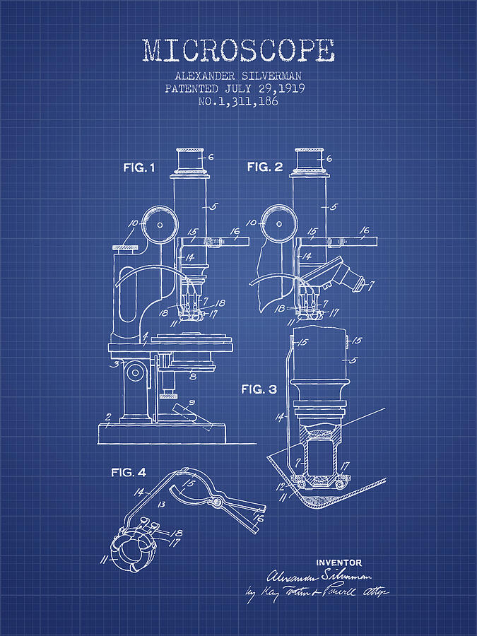 Microscope patent from 1919 blueprint digital art by aged pixel microscope digital art microscope patent from 1919 blueprint by aged pixel malvernweather