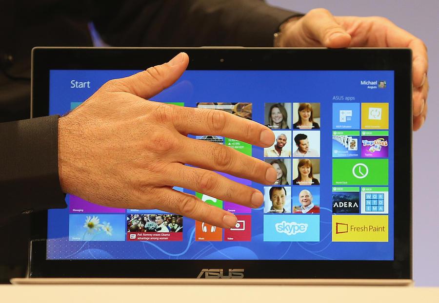 Microsoft Unveils Windows 8 Photograph by Mario Tama
