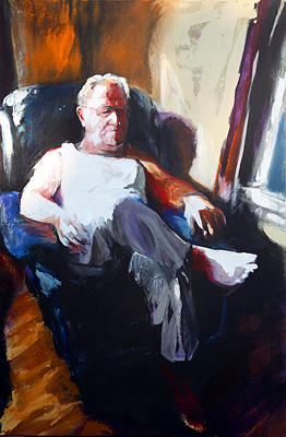 Man Painting - Mid-day Break by Michelle Winnie