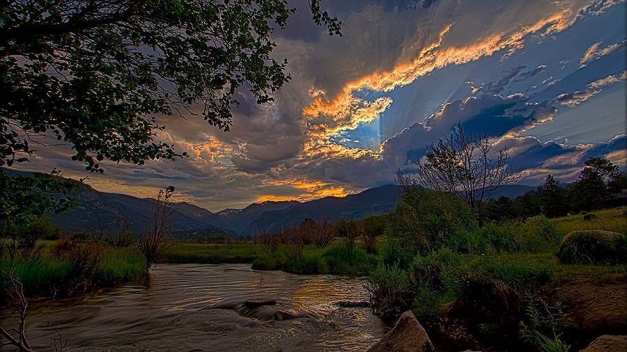 Mid-Summer Sunset by Darrell E Spangler