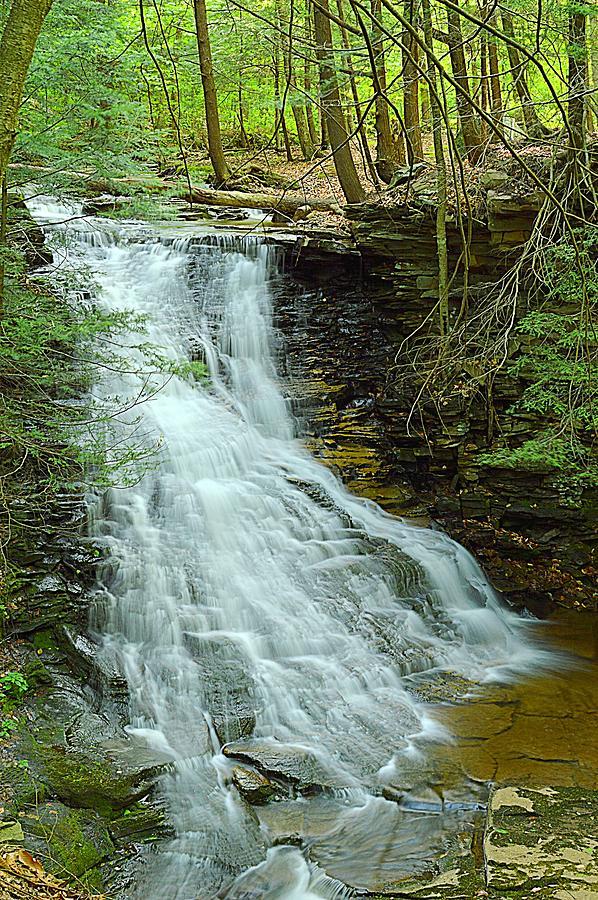 Waterfall Photograph - Middle Branch Falls Upper Tier #1 by Joel E Blyler