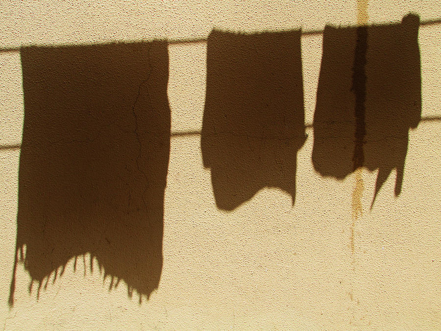 Clothes Drying Photograph - Middle Class by Prakash Ghai