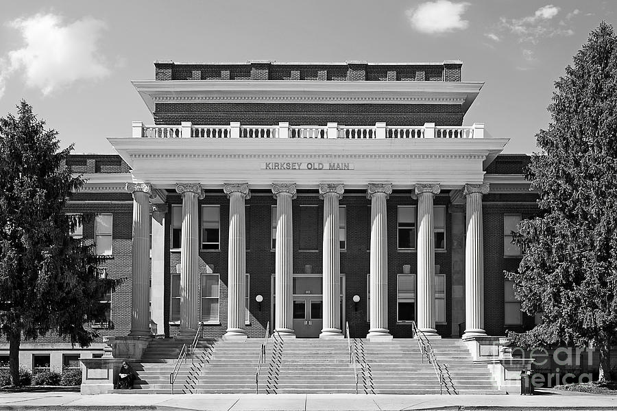 Blue Raiders Photograph - Middle Tennessee State Kirksey Old Main by University Icons